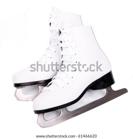 White skates - stock photo