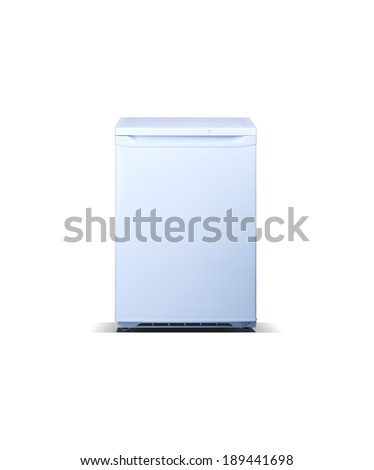white small freezer - stock photo