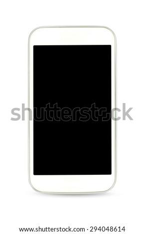 White smart phone , photo - stock photo