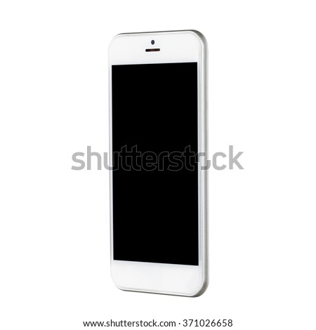 White smartphone on a clean background for use online and in print