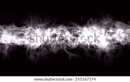 White smoke background. Raster version - stock photo