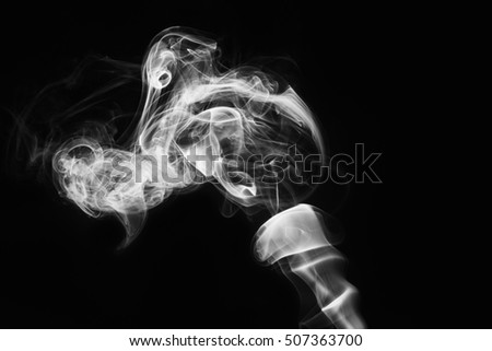 White smoke of Design elements on black background