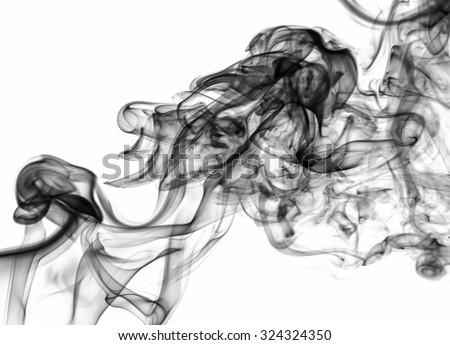 white smoke on white background, smoke background, white ink background, beautiful white smoke - stock photo
