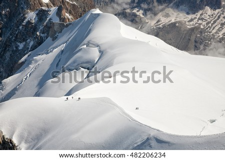 White snow of Mont Blanc, Alps, France