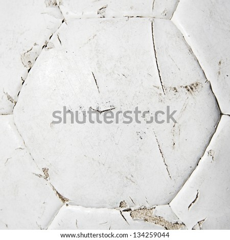 white soccer ball texture - stock photo