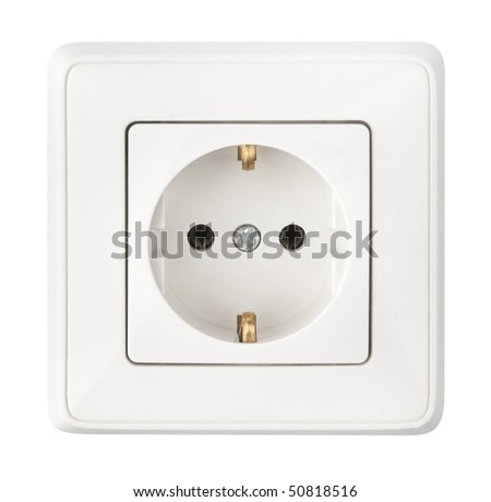 white socket isolated on a white background - stock photo