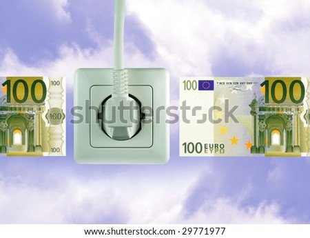white socket on a bautiful sky free energy - stock photo