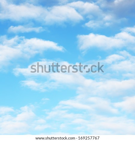 White soft clouds on sky