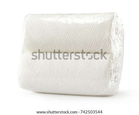 White soft paper towels in a pack
