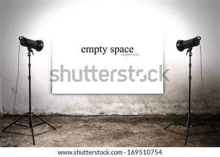 white space for text and lamps  - stock photo