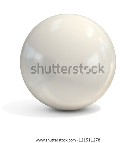 white sphere isolated - stock photo