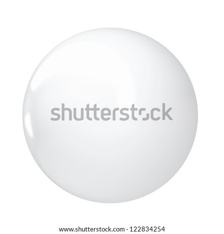 White sphere. Isolated render on a white background - stock photo