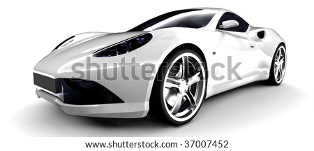 Beautiful White Sports Car Amazing Pictures