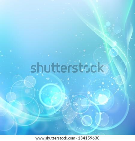 White spots on blue background. Illustration. - stock photo