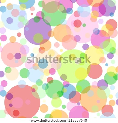 White square background with multicoloured bubbles - stock photo