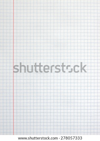 White square paper sheet background from notepad.