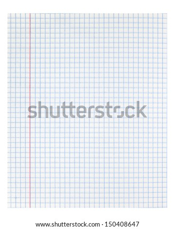 white squared paper note background