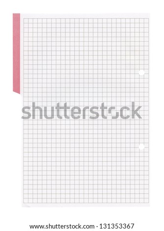 White squared paper sheet background ,textured background, paper background