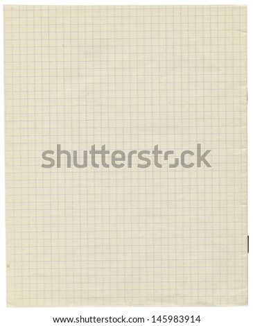 White squared paper sheet background ,textured background, paper background, school exercise book   - stock photo