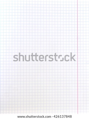 White squared paper sheet texture red margin