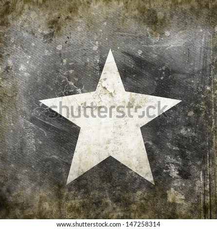 white star on grunge background