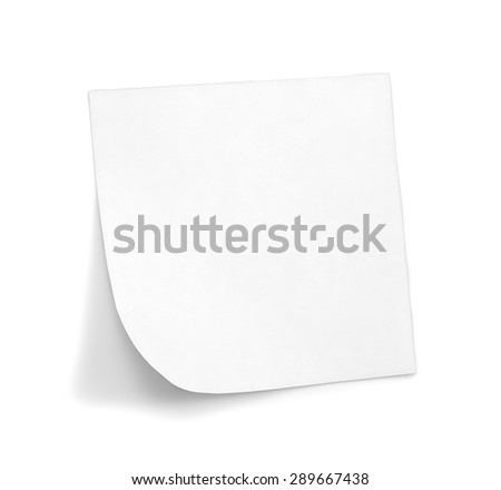 White sticky note with shade  - stock photo
