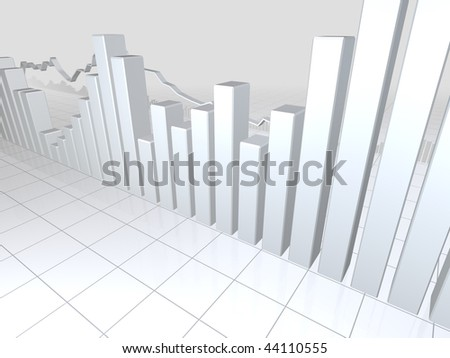 White Stock Market Graphs
