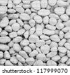 White stone background (texture) monochrome black and white - stock
