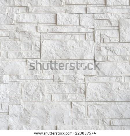 white stone wall. - stock photo