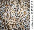 white stones and pebble - stock photo