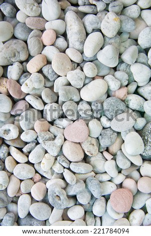 white stones and pebble background - stock photo