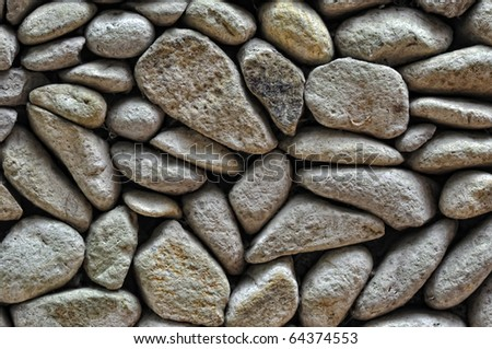 white stones on wall texture - stock photo