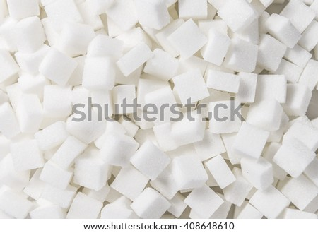 White Sugar cubes (full frame image) for use as background image or as texture - stock photo