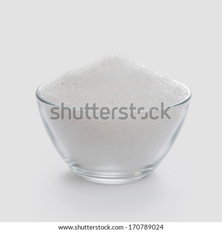 White sugar for cooking - stock photo