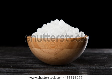 White sugar in a bowl