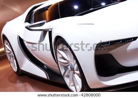 white super car design - stock photo