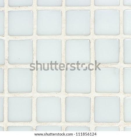 White  swimming pool tiles background - stock photo