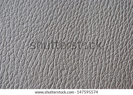 White synthetic leather texture or background - stock photo