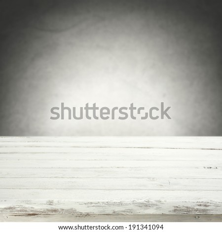 white table and wall  - stock photo