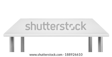 White table top, isolated. - stock photo