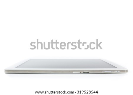 White tablet isolated.