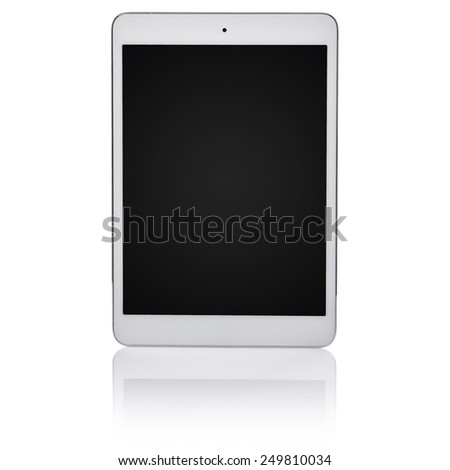 White tablet pc isolated - stock photo