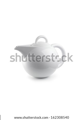 White Teapot  - stock photo