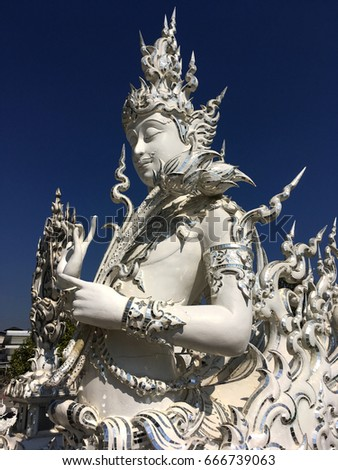 White Temple, traditional of Thailand culture