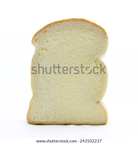 White thick fresh bread ingredient on white background