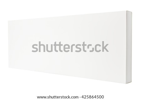 White thin box isolated on white background - stock photo
