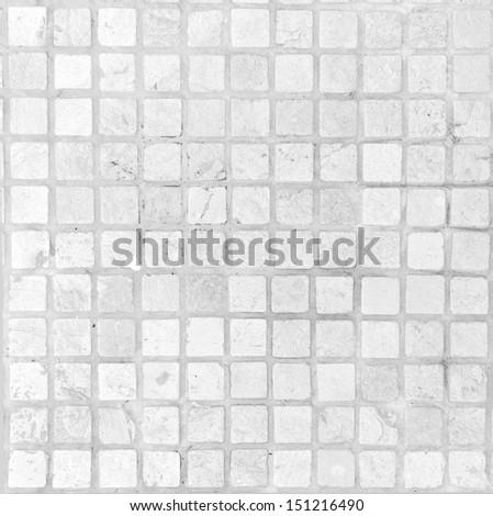 white tile pavement - stock photo