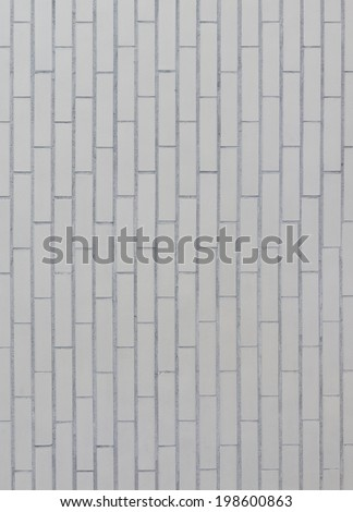 White tile wall as background, texture