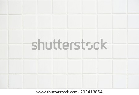 White tile wall,background for design. - stock photo