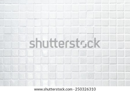White tile wall high resolution real photo - stock photo